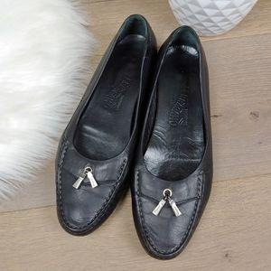 Salvatore Ferragamo Loafer Flats Silver Tassel